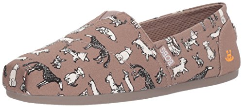 Doodle Taupe Plush Flat Dream Women's Red Bobs Ballet Skechers w8qTIE