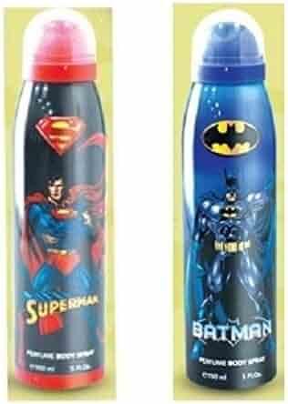 BATMAN AND SUPERMAN 5.0 oz PERFUME BODY SPRAY 2 BODY SPRAY