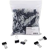 SMALL BINDER CLIPS, STEEL WIRE, 3/8 CAPACITY, 3/4 WIDE, BLACK, 144/PK