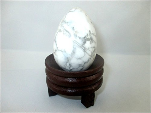 Jet Natural Howlite Gemstone Egg 45-50 mm A+ Hand Carved Crystal Altar Healing Devotional Focus Spiritual Chakra Cleansing Metaphysical Jet International Crystal Therapy Image is JUST A Reference.