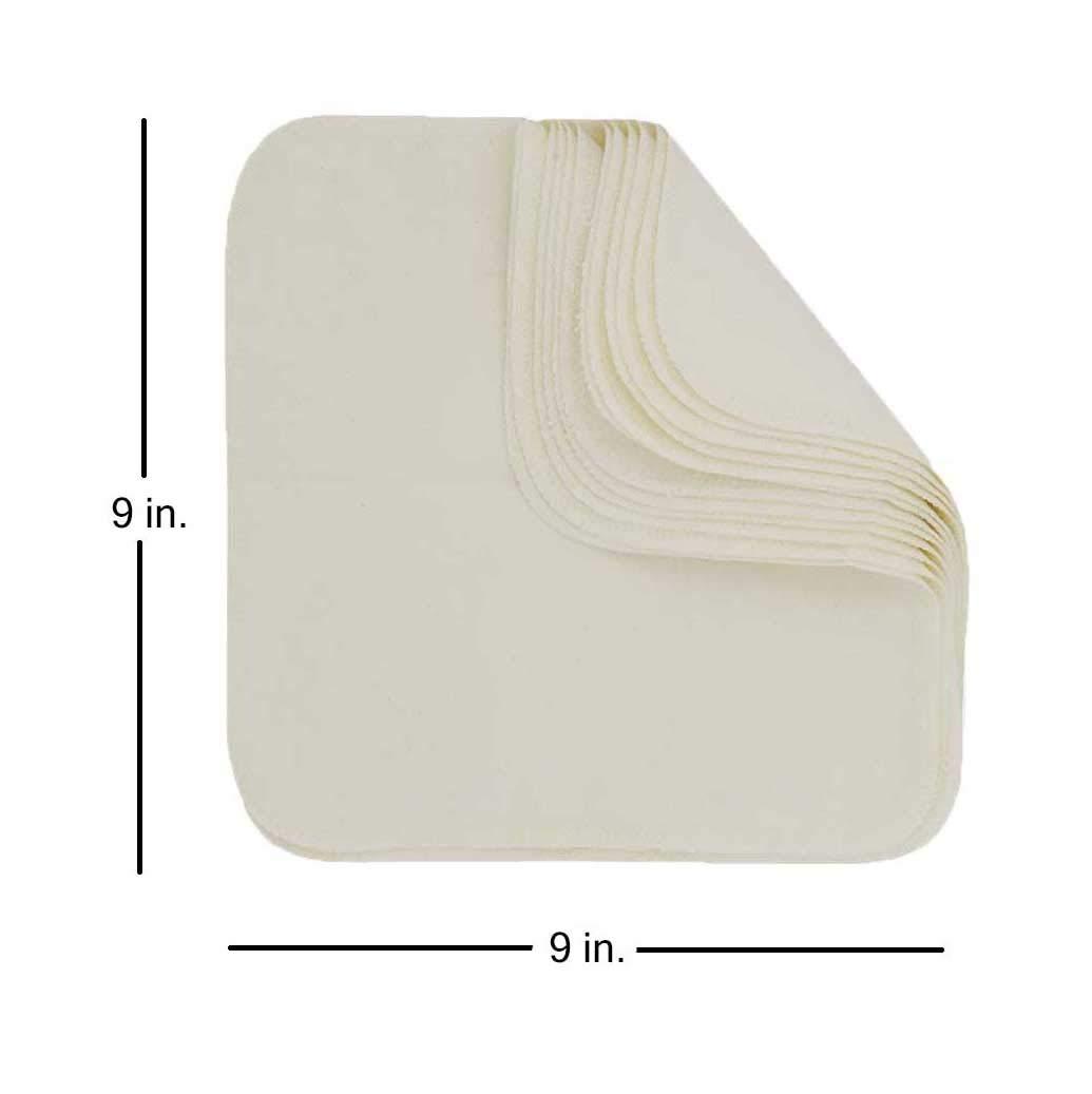 Natural ImseVimse 12 waschbare Reinigungst/ücher aus Baumwolle