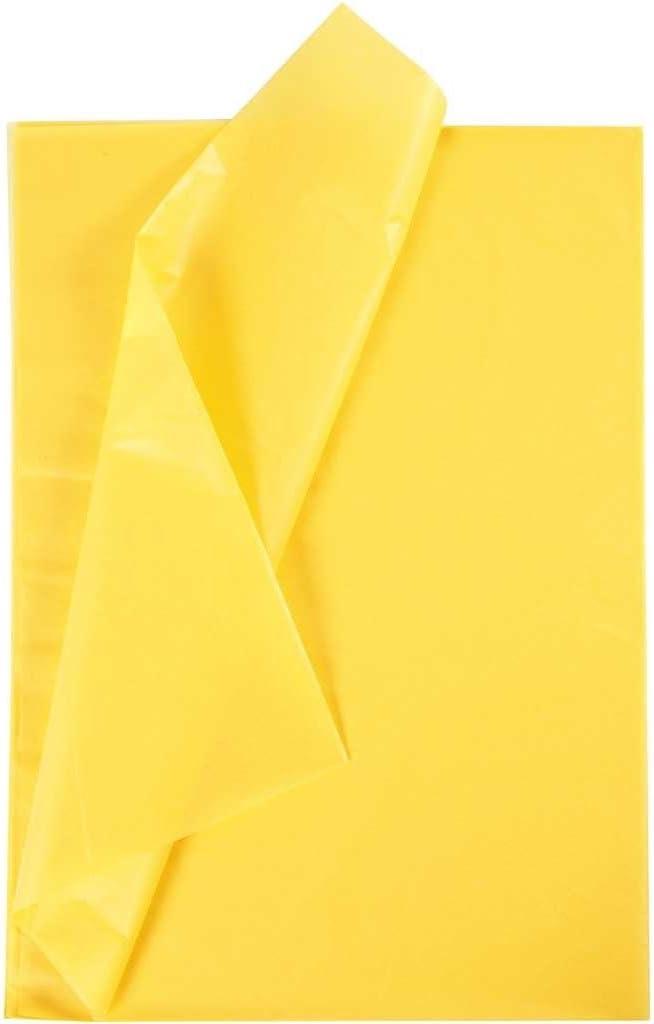 Creavvee Decoupage Papel de seda 50 x 70 cm 28 hojas Amarillo