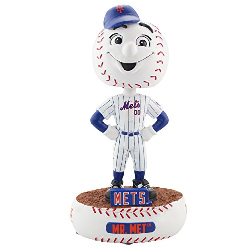 FOCO MLB New York Mets Mascot Baller Bobble, Team Color, One Size]()