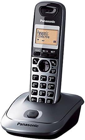 Panasonic KX-TG2513SPM - Teléfono fijo digital inalámbrico (capacidad de lista de direcciones: 50, rellamadas en memoria: 10), gris: Amazon.es: Electrónica