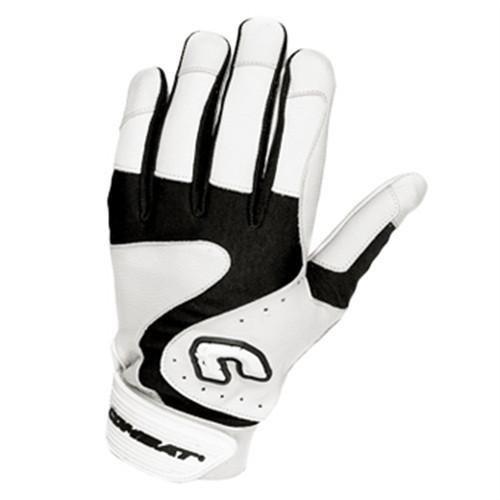 Combatプレミアムg3ユース野球ソフトボールバッティング手袋 – ホワイトブラック B075NPWWX2 Youth Small|ホワイトブラック ホワイトブラック Youth Small