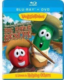 VeggieTales Big River Rescue Tomato Sawyer & Huckleberry Larry's ; Blu-Ray + DvD 2 Disc Comb PK