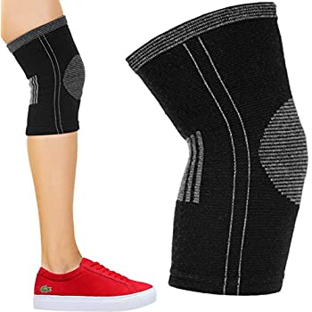 cc67959fab Cotton Compression Knee Sleeve. Support Brace for Running, Sports,  Arthritis, Joint Pain Relief. ACL MCL Injury Recovery. Soft and  Anti-Allergic. Single