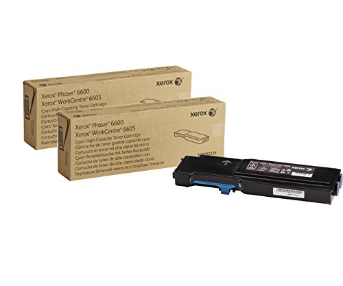 Genuine Xerox High Capacity Cyan Toner Cartridge for the Phaser 6600 or WorkCentre 6605, 106R02225