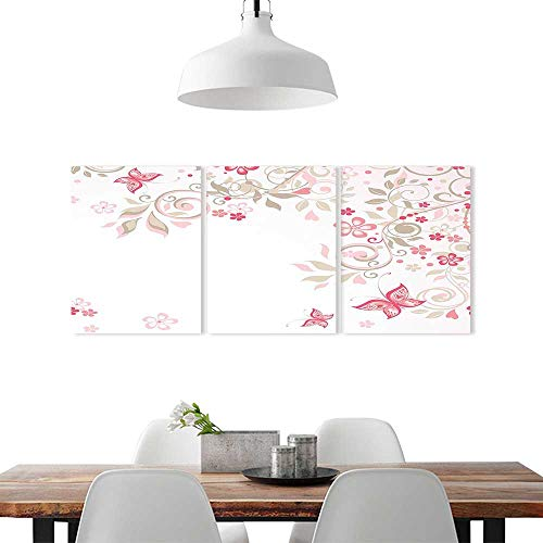 Color 3 Piece Wall Art Painting Frameless W20