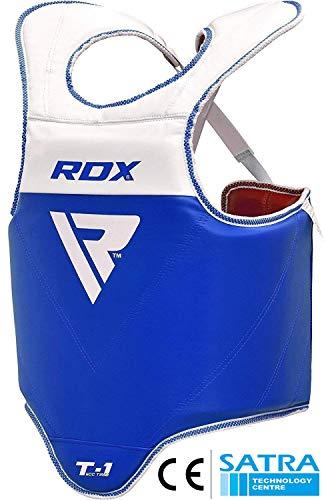 RDX TKD Chest Guard Boxing MMA Body Protector WTF Reversible Martial Arts Taekwondo Rib Shield Armour Training Kickboxing Target