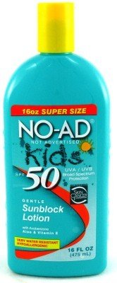 No-ad Spf#50 Kids Sunscreen Lotion 16 oz (Case of 6) by No-Ad