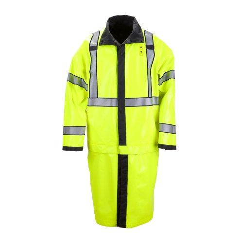 - 5.11 Men's Long Reversible Ansi Class 3 High Visibility Rain Coat, Black, Large