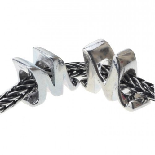 Letter M of Mom .925 Sterling Silver I Love Mom Bead Charm for Mother's Day Gift
