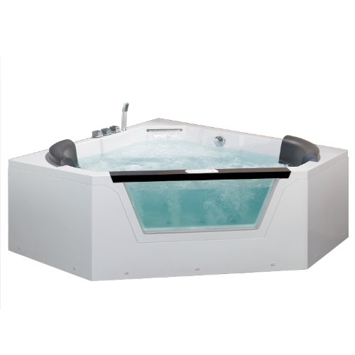 Ariel AM156JDTSZ Bath Whirlpool Tub, 2 Person, Pentagon Corner, White by Ariel Bath