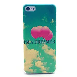 iPhone 5C Case - LUOLNH Fashion Style Colorful Painted Dreamer Balloon Hard Case Back Cover Protector Skin For iPhone 5C by icecream design