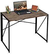 """Coavas Folding Desk No Assembly Required, 40"""" Writing Computer Desk Space Saving Foldable Table S..."""