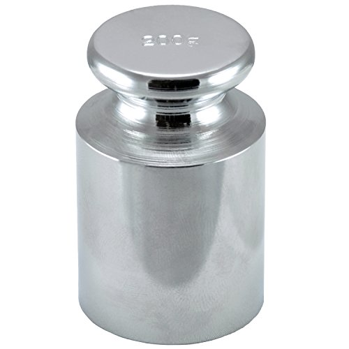 Smart weigh chrome 200g carbon steel OIML class M1: ± 10 mg calibration weight with chrome finish