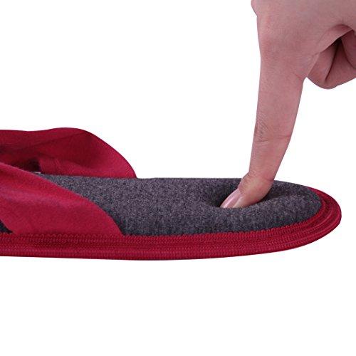 Home Slippers Indoor Slippers Voor Dames, Comfortabel Traagschuim Zomer String Slippers Slip Op Slipper Rose Rood En Grijs