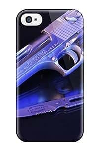 ZippyDoritEduard Iphone 4/4s Hybrid Tpu Case Cover Silicon Bumper Gun