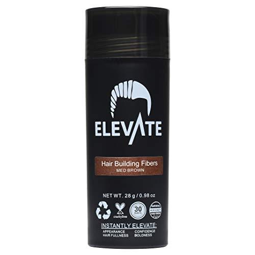 Hair Fibers 100% Natural Keratin Hair Fibers Instantly Thickens Thinning or Balding Hair for Men and Women - Natural Hair Loss Concealer 28g 0.98oz (Medium Brown)