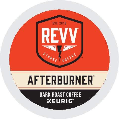 Revv Keurig Dark Roast Coffee K-Cup Pods, Afterburner, 96 Count