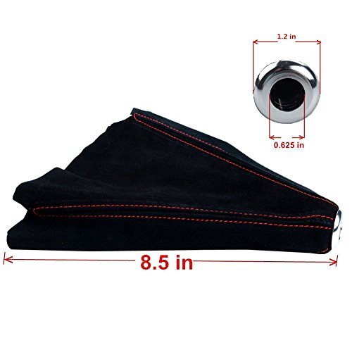 Rxmotor Stitch Black Suede Shifter Shift Boot Gear Cover Manual Auto Jdm