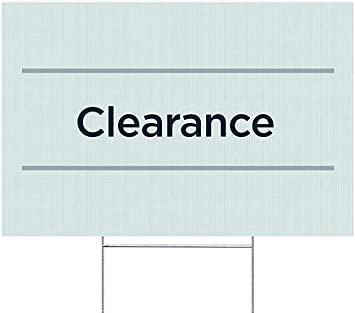 Clearance Basic Teal Double-Sided Weather-Resistant Yard Sign CGSignLab 27x18 5-Pack