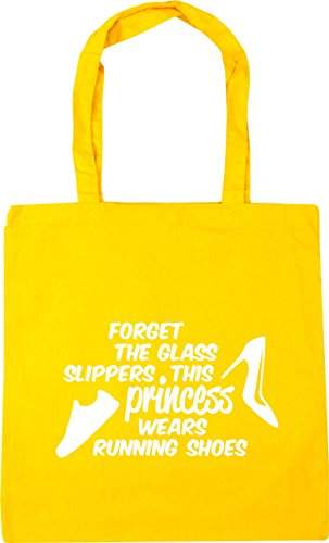 Bag wears 10 Beach Gym HippoWarehouse Shopping princess Yellow 42cm glass slippers x38cm shoes Forget the litres this running Tote OwOYR4q