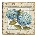 Counter Art CART11632 Blue Hydrangea Single Tumbled Tile Coaster