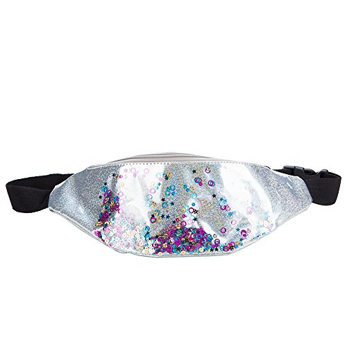 MUM'S MEMORY Holographic Women Fanny Pack - Waist Pack with Adjustable Belt for Travel, Party