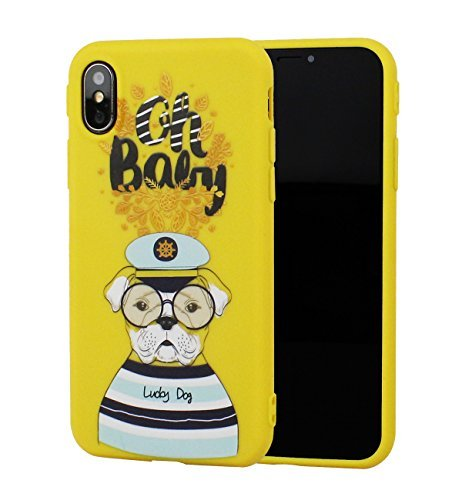 sports shoes d82a6 c2fed iPhone X Case with Dog, Puppy iPhone X Case, EMORCO iPhone Cover with Cute  Pattern, Slim Shockproof Soft TPU Case, Pretty Pets Series Phone Case for  ...