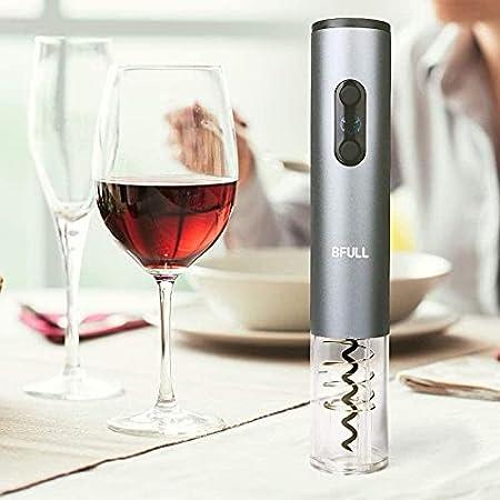 Sacacorchos eléctrico inalámbrico, incluye sacacorchos automáticos, tapón de vacío, cortador de papel de aluminio, aireador de vino, vertedor de vino, caja de regalo 4 en 1