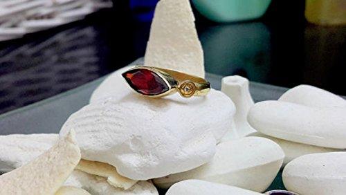Garnet ring,gold ring. small marquis ring,wine red garnet,gemstone ring,gold plated ring,bridal ring,bezel setting,wedding gift