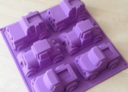 6 Truck Jeep Car Shape Silicone Cake Baking Mold Cake Pan Muffin Cups Handmade Soap Moulds Biscuit Chocolate Ice Cube Tray DIY Mold