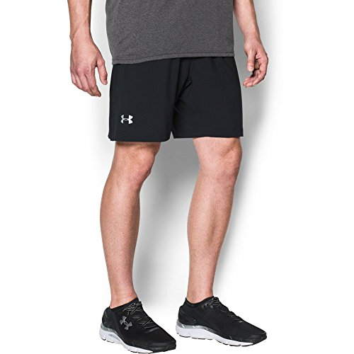 Under Armour Men's Launch 2-in-1 Shorts, Black (001)/Reflective, Large