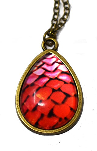 Peace River Designs Dragon Egg Glass Necklaces (Red)