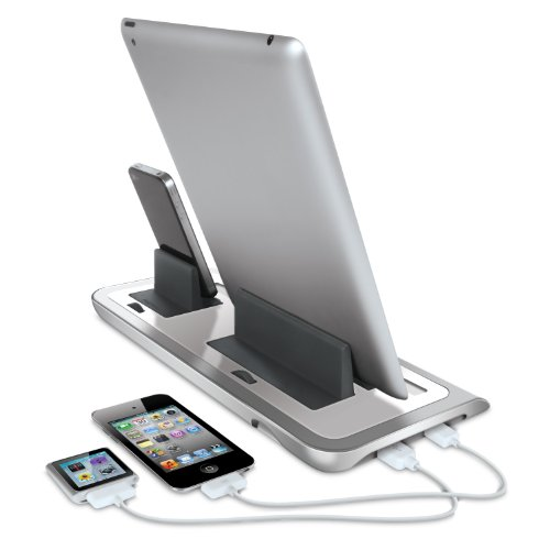 iSound Power View Pro S Charge and View Dock with 2 Apple 30 Pin Charge for iPad 1 2 & 3, all iPhones (except for iPhone 5 and above) , all iPod touches and more (white) by iSound (Image #3)