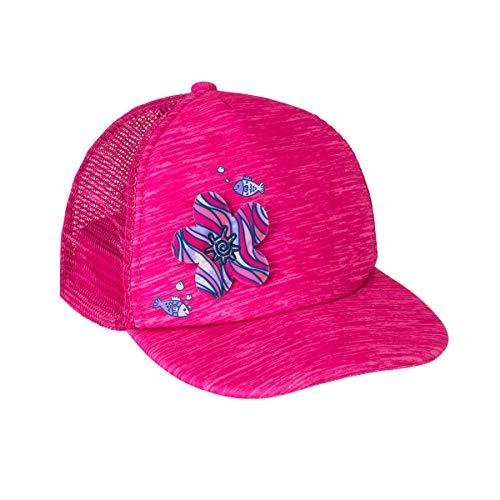 - UV SKINZ UPF 50+ Girls H2O Snap Back Hat - Jaspe Hot Pink Flower -