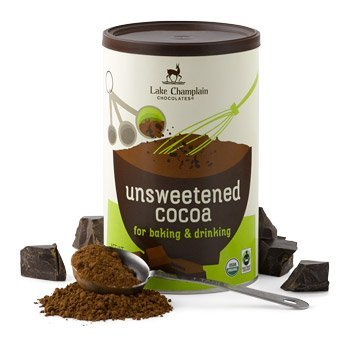 - Lake Champlain Chocolates Unsweetened Organic Cocoa, 10 oz
