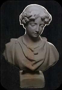 Busto Römerin (A19) Escultura Decoración Jardín figuras Estatua de piedra hormigón 38cm