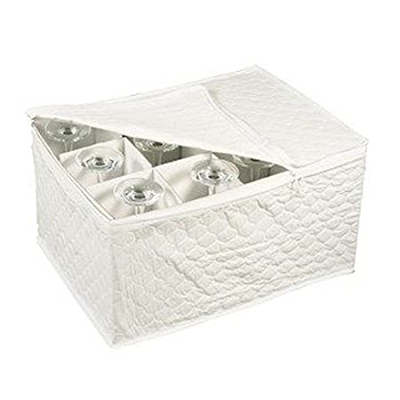 Awesome Stemware Storage Chest For Up To 12 Glasses, White By Richards Homewares