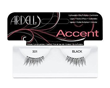 Ardell Lash Accents Pair Style 301, Black (8-Pack)