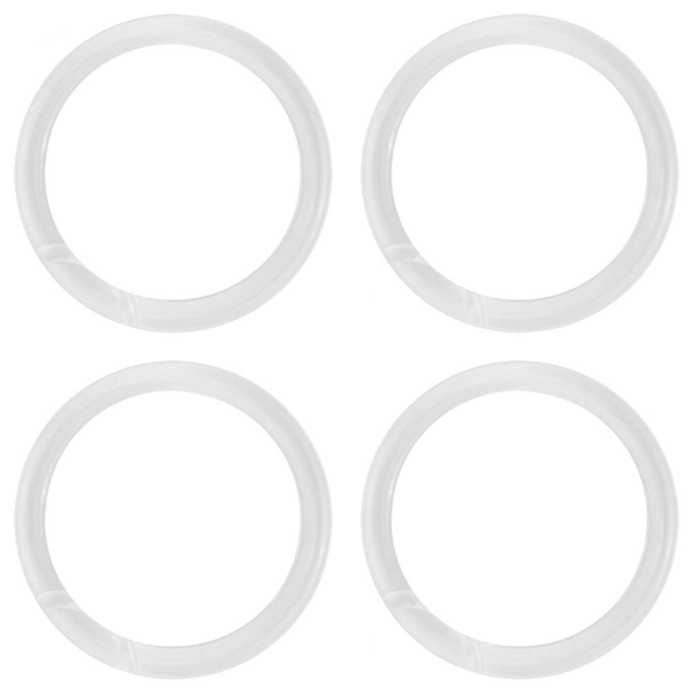 NAHANCO CIR3100 Plastic Scarf Rings, 2 1/2'' Inside Diameter, Clear (Pack of 100) (Вundlе оf Fоur)