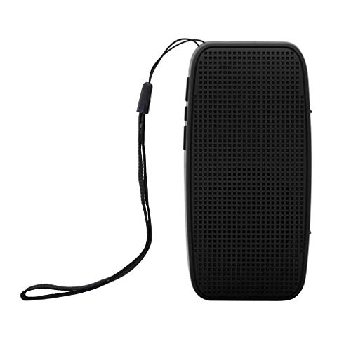 Sodoop HiFi Portable Wireless Bluetooth Speaker Stereo Sound Bar, TF Subwoofer Column Speakers with Hand Strap for Samsung Computer Phones (Black)