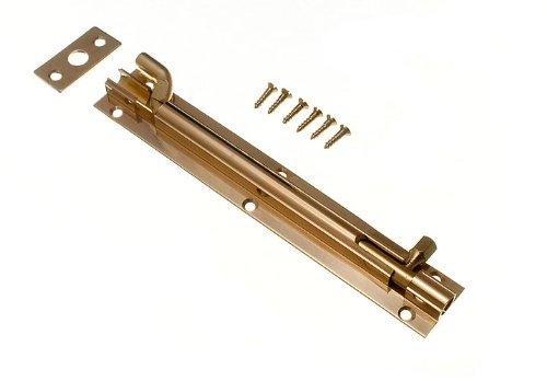 Lot Of 20 Door Barrel Slide Bolt Cranked Offset 150Mm 6 Inch Brass + Screws