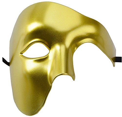 Best Diy Costumes Men (Outgeek Half Face Phantom of the Opera Masquerade Venetian Mardi Gras Mask For Halloween Party (Gloden))