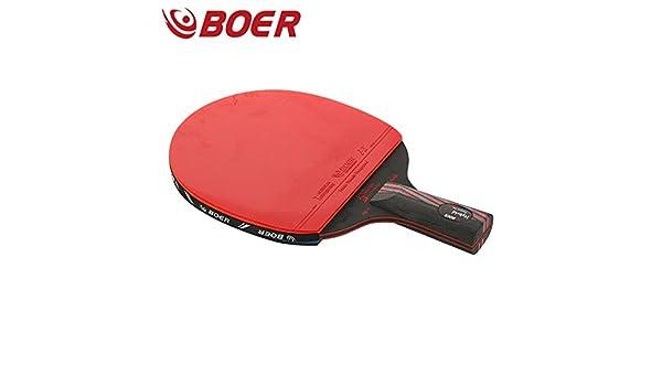 BEOR Profesional Negro carbonizzare Re 9.8 Raqueta de Ping Pong ...