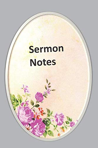 Sermon Notes: Cute Floral Oval Frame Design