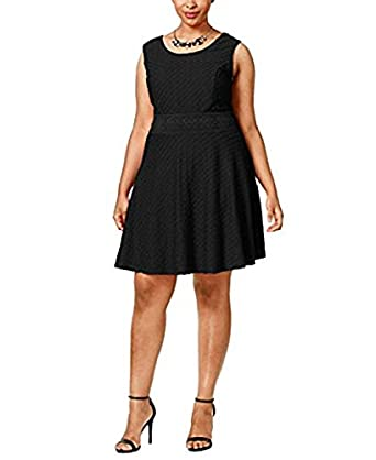 Amazon American Rag Plus Size Textured Fit Flare Dress Size