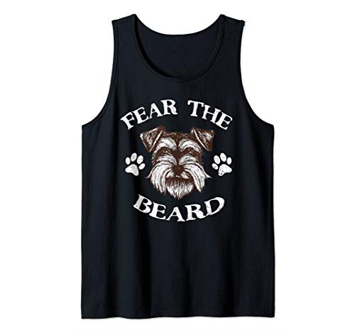 Schnauzer Tank Top Fear The Beard  Tank Top
